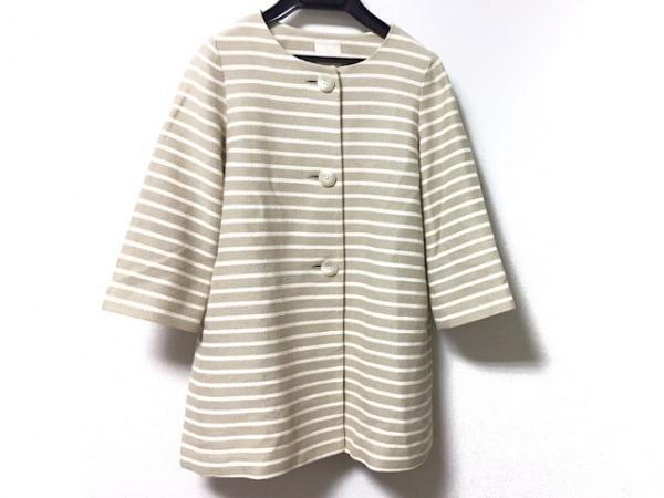ラピスルーチェビームス コート サイズ36 S レディース美品  ボーダー/春・秋物