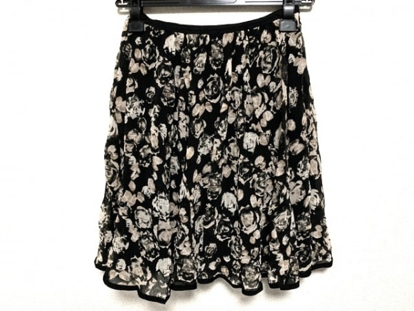 EPOCA(エポカ) スカート サイズ38 M レディース 黒×ベージュ