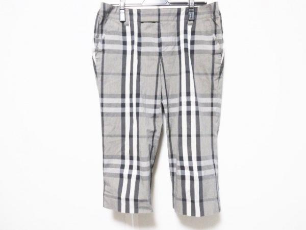 バーバリーロンドン パンツ サイズ42 XL レディース グレー×ダークグレー×マルチ