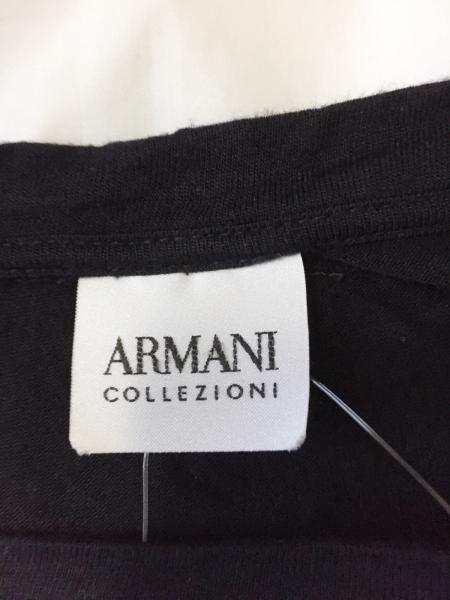 アルマーニコレッツォーニ 半袖Tシャツ メンズ美品  黒×ダークグレー×ライトグレー