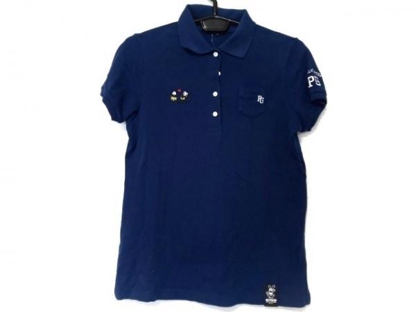 パーリーゲイツ 半袖ポロシャツ サイズ0 XS レディース新品同様  ネイビー ディズニー
