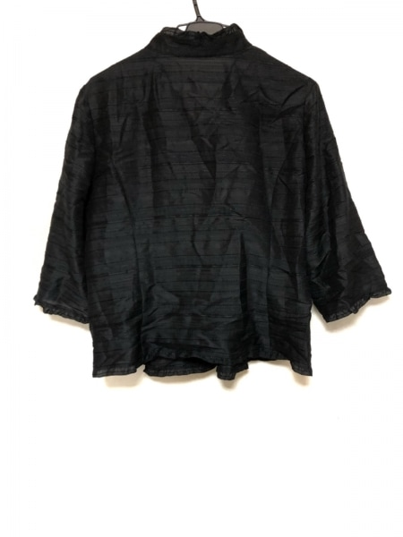 Leilian(レリアン) ジャケット サイズ13 L レディース美品  黒 フリル/ラメ