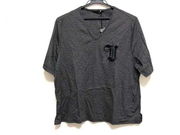 バレンザスポーツ 半袖Tシャツ サイズ48 XL レディース美品  黒×ライトグレー