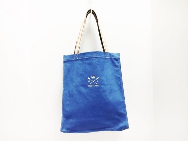 OROBIANCO(オロビアンコ) トートバッグ ブルー×マルチ キャンバス×レザー