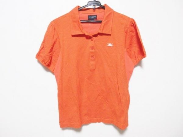 BURBERRYGOLF(バーバリーゴルフ) 半袖ポロシャツ サイズL レディース オレンジ