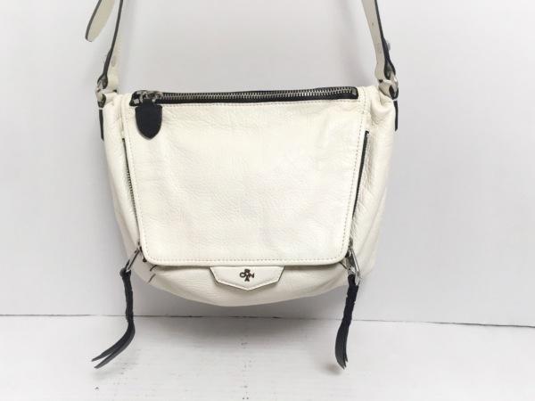 ORYANY(オリヤニ) ショルダーバッグ 白×黒 レザー