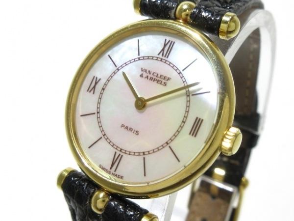 VCA/ヴァンクリ 腕時計 クラシックラウンドSM 18601 レディース ホワイトシェル