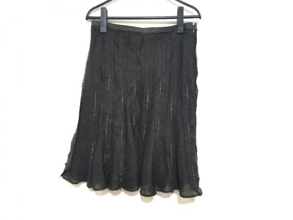 ボディドレッシングデラックス スカート サイズ9 M レディース美品  黒 ビーズ