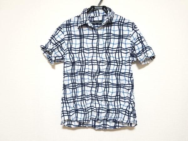 バーバリーブラックレーベル 半袖シャツ サイズ2 M メンズ美品  チェック柄