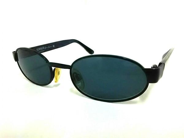 VERSUS(ヴェルサス) サングラス美品  R42 黒×シルバー プラスチック×金属素材