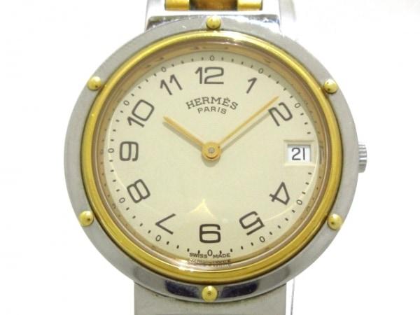 HERMES(エルメス) 腕時計 クリッパー - メンズ アイボリー