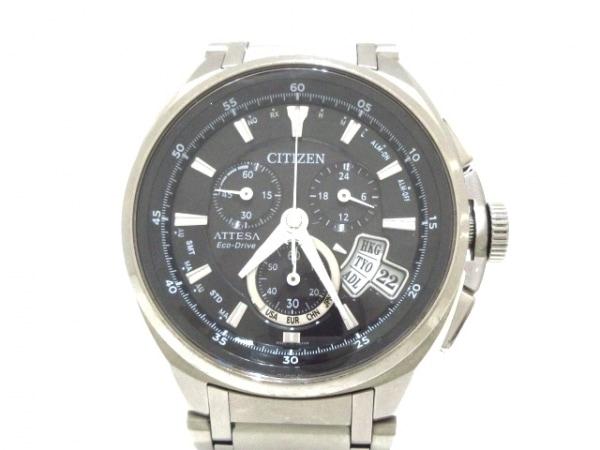 CITIZEN(シチズン) 腕時計 アテッサ エコドライブ H610-T015581 メンズ 黒