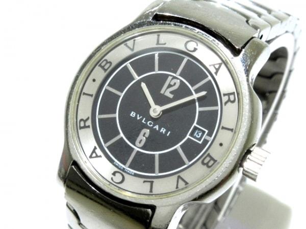 new styles 9952b 5de5a BVLGARI(ブルガリ) 腕時計 ソロテンポ ST29S レディース 黒×シルバー