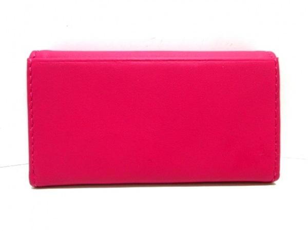 PaulSmith(ポールスミス) キーケース美品  ピンク×マルチ 4連フック/花柄 レザー