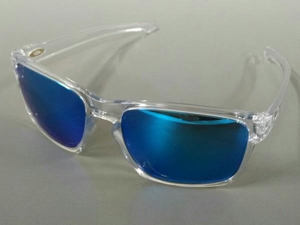 オークリー サングラス SLIVER OO9269-04 クリア×ブルー 偏光レンズ プラスチック