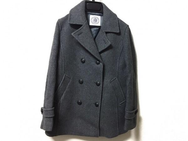 J.PRESS(ジェイプレス) Pコート サイズ11 M レディース グレー 冬物