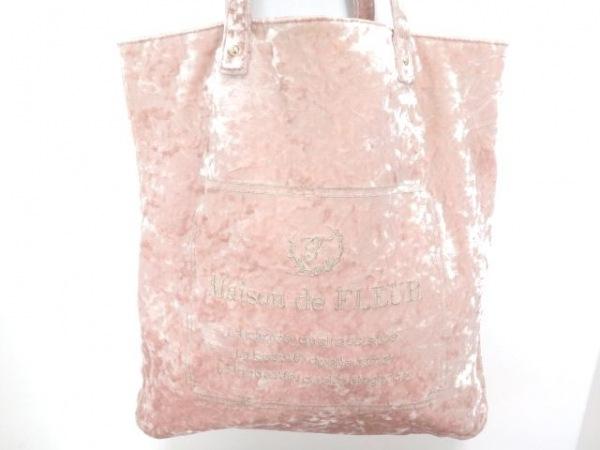 Maison de FLEUR(メゾンドフルール) トートバッグ ピンク 刺繍 化学繊維