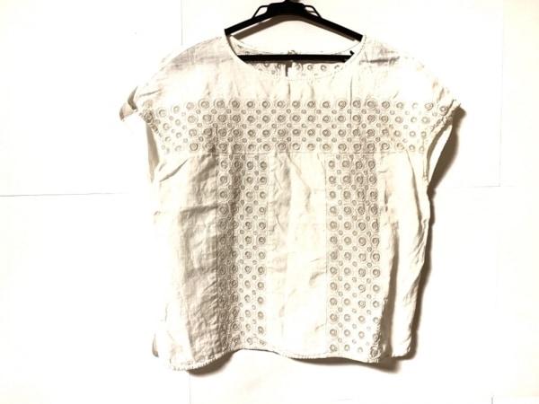 genten(ゲンテン) 半袖カットソー サイズ38 M レディース 白 刺繍