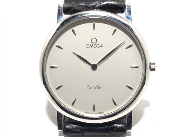 OMEGA(オメガ) 腕時計 デビル - レディース 革ベルト/型押し加工 シルバー