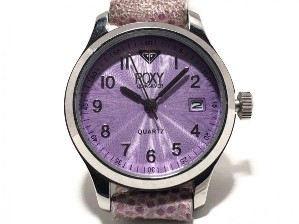 Roxy(ロキシー) 腕時計 RX5000 レディース 革ベルト パープル