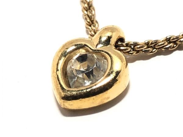クリスチャンディオール ネックレス美品  金属素材×ジルコニア ゴールド×シルバー