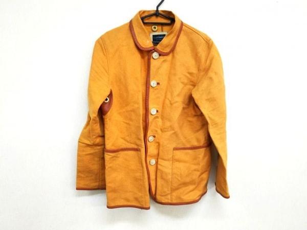 L&KONDO(ルコンド) ジャケット サイズ48 XL メンズ オレンジ×ブラウン