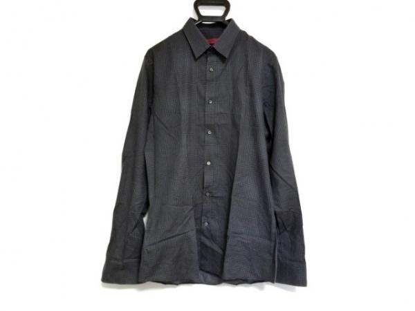 HUGOBOSS(ヒューゴボス) 長袖シャツ サイズM メンズ ダークグレー×グレー