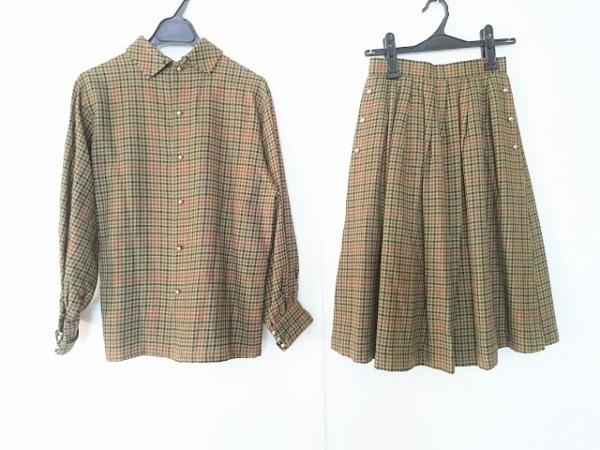 MISS CHLOE(クロエ) スカートセットアップ サイズ40 M レディース カーキ×マルチ