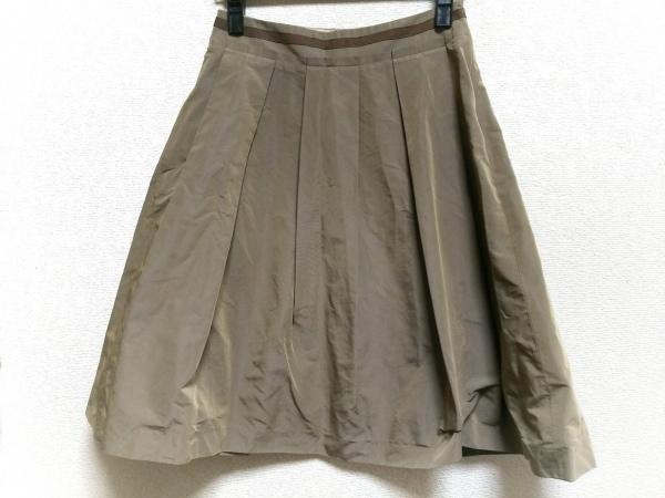 AMACA(アマカ) スカート サイズ36 S レディース ブラウン プリーツ