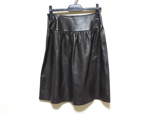 カルバンクライン スカート サイズ4 XL レディース新品同様  ダークブラウン
