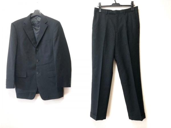 KENT&CURWEN(ケント&カーウェン) シングルスーツ サイズ94A6 メンズ 黒 ストライプ