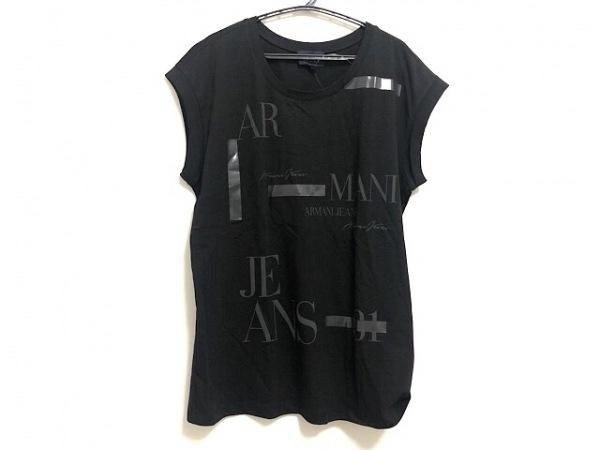 アルマーニジーンズ ノースリーブTシャツ サイズ38 S レディース美品  ロゴプリント