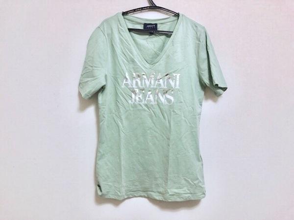 ARMANIJEANS(アルマーニジーンズ) 半袖Tシャツ サイズ38 S レディース ロゴプリント