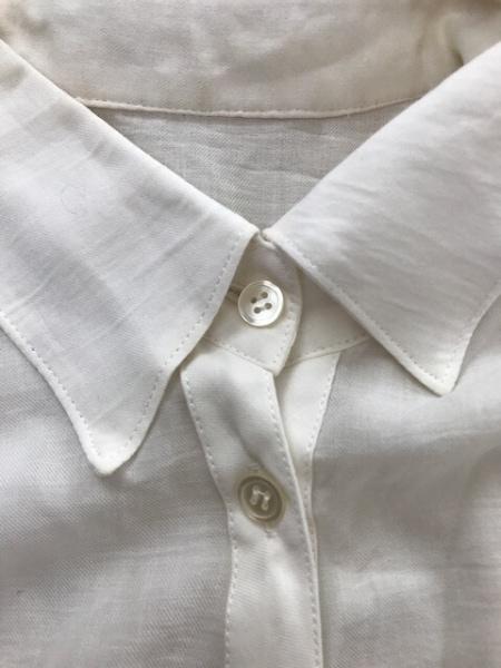 グレースコンチネンタル 長袖シャツブラウス サイズ36 S レディース 白 シースルー