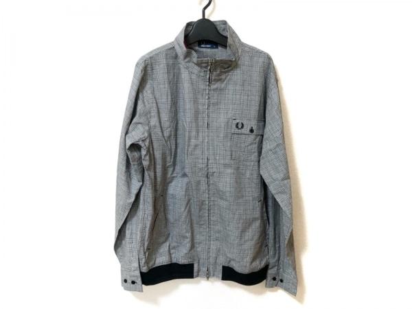 フレッドペリー ブルゾン サイズXL メンズ美品  黒×白 チェック柄/春・秋物