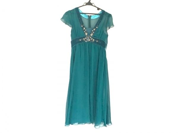 プリフェレンスパーティーズ ドレス サイズ38 M レディース ブルー×ゴールド×マルチ