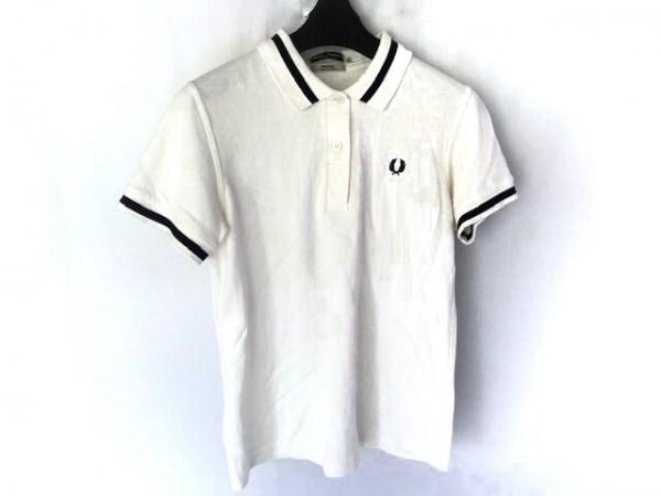 フレッドペリー 半袖ポロシャツ サイズ10 L レディース美品  白×ダークネイビー