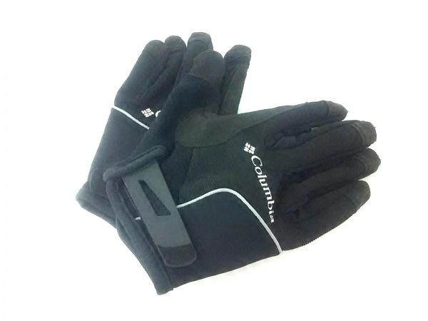 columbia(コロンビア) 手袋 M メンズ 黒×白×ライトグレー ナイロン×ポリウレタン