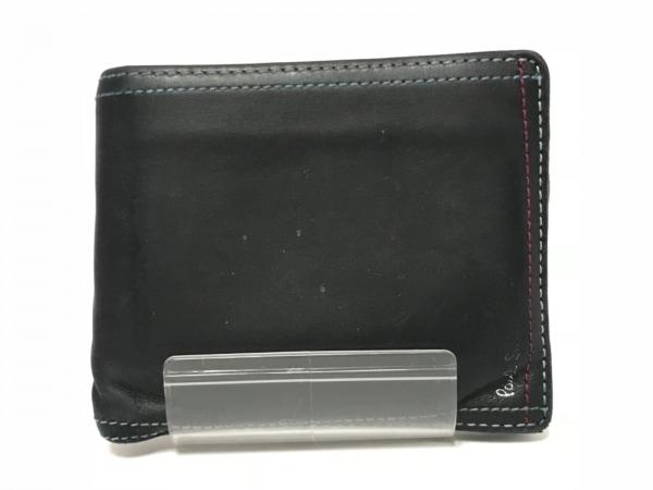 PaulSmith(ポールスミス) 2つ折り財布 ネイビー×マルチ レザー
