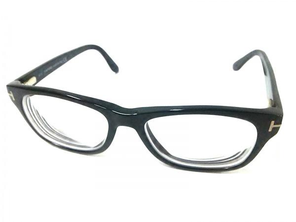 TOM FORD(トムフォード) メガネ TF5147 黒×クリア×ゴールド 度入り プラスチック
