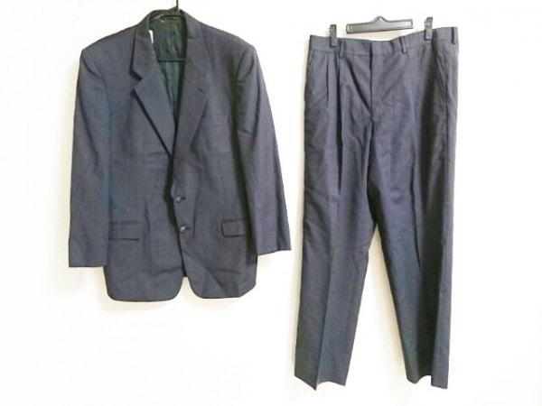 DURBAN(ダーバン) シングルスーツ メンズ ダークネイビー 肩パッド/ネーム刺繍