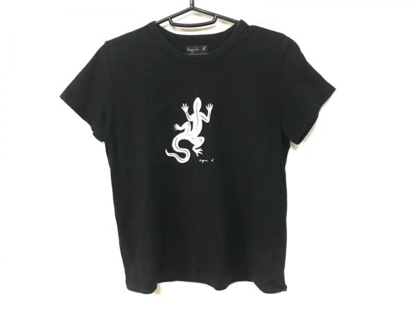 agnes b(アニエスベー) 半袖Tシャツ レディース 黒×白