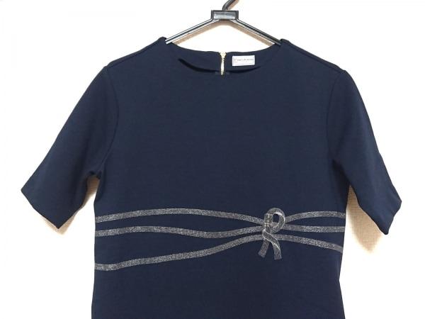 ロベルタ ディ カメリーノ ワンピース サイズ9 M レディース美品  黒×シルバー 刺繍