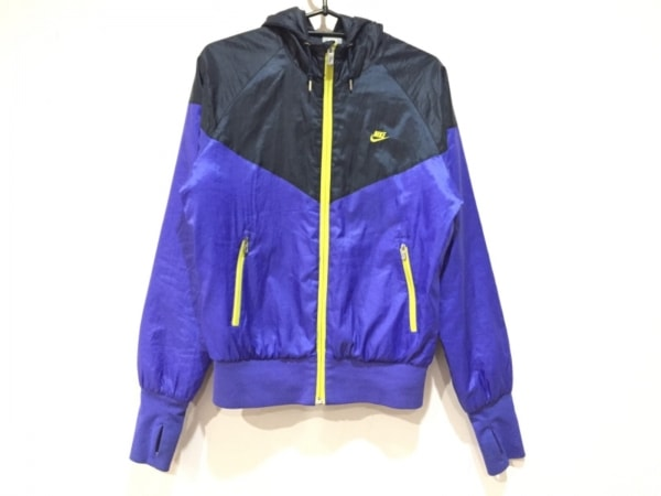 NIKE(ナイキ) ブルゾン サイズM レディース美品  ブルー×黒×イエロー