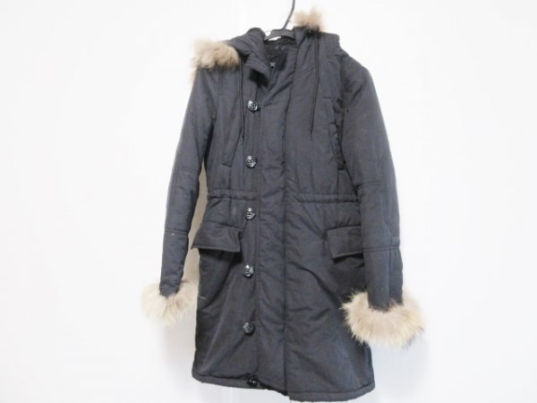 CECILMcBEE(セシルマクビー) ダウンコート サイズM レディース 黒 ファー/冬物
