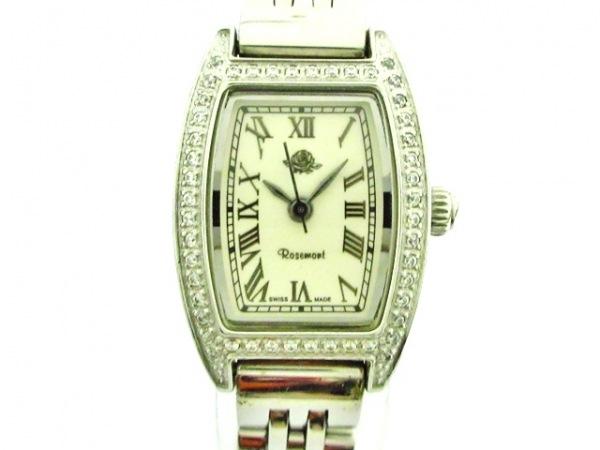 Rosemont(ロゼモン) 腕時計美品  RS-003 レディース ラインストーンベゼル 白