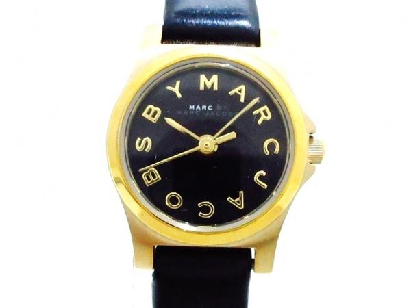 マークジェイコブス 腕時計美品  MBM1240 レディース 革ベルト 黒