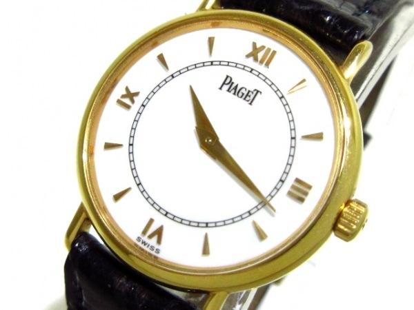 ピアジェ 腕時計 トラディション 8005N レディース 120周年記念/K18PG/革ベルト 白