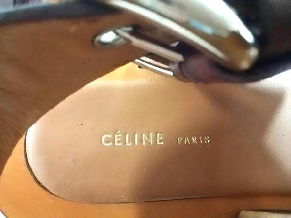 CELINE(セリーヌ) サンダル 37 レディース ダークブラウン オープントゥ レザー