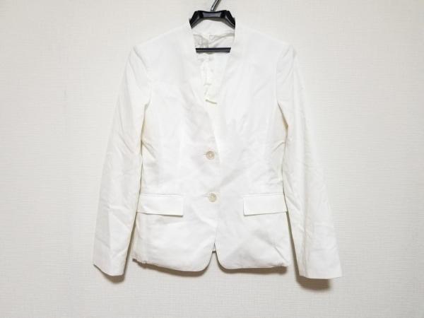 PaulStuart(ポールスチュアート) ジャケット サイズ6 M レディース美品  白 肩パッド